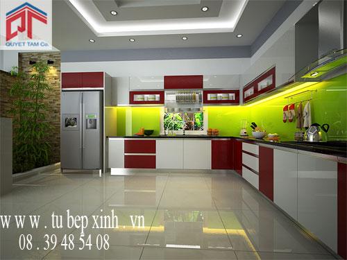 tủ bếp, tủ bếp nhôm kính, tủ bếp hiện đại cho gia đình 0839485408