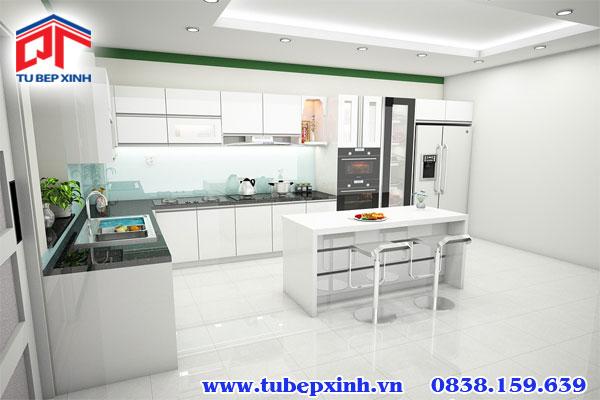 Tủ bếp acrylic chữ L