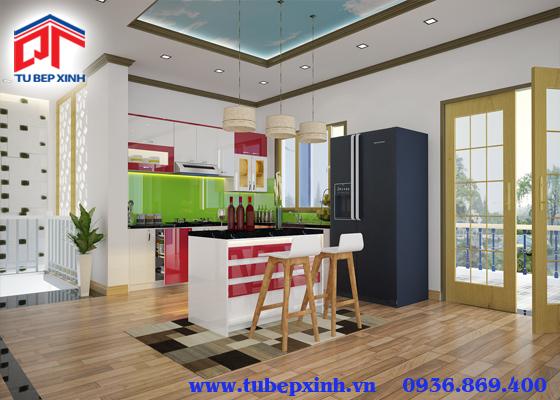 tủ bếp chữ i  - TBX109