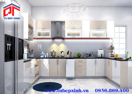 Tủ bếp acrylic - TBX111