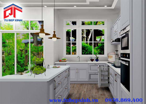 Tủ bếp acrylic- TBX118