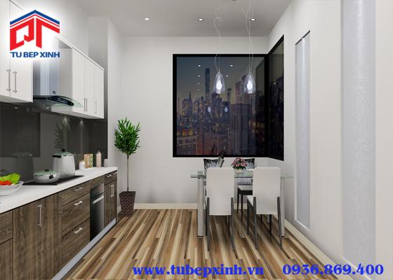 Tủ bếp acrylic - TBX119