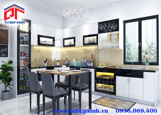 Tủ bếp acrylic - TBX120