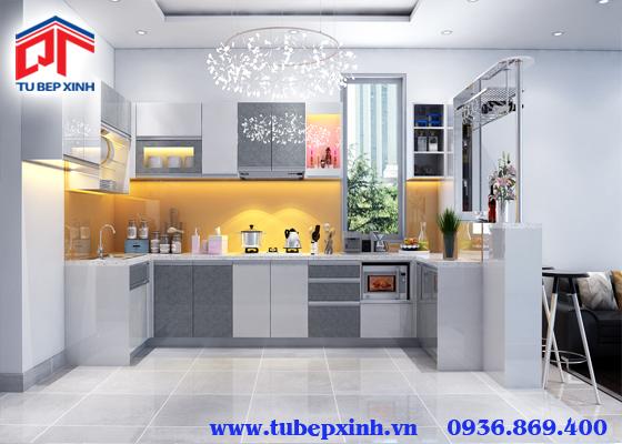 mẫu tủ bếp đẹp- TBX134