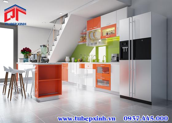 tủ bếp đảo hiện đại - TBX092
