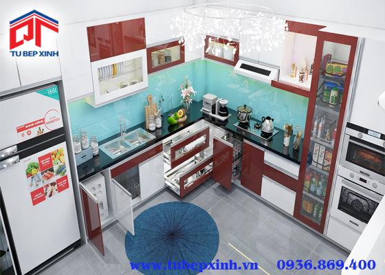 Mẫu tủ bếp - TBX093