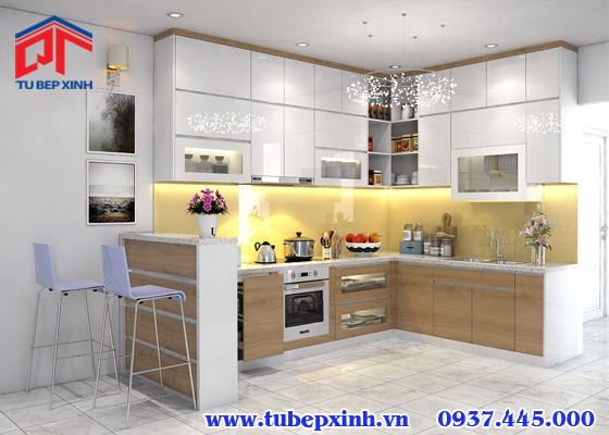 Mẫu tủ bếp gỗ - TBX094